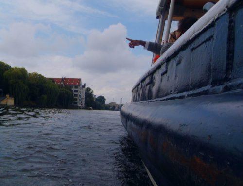 Stoßbootrennen beim Hafenfest im Historischen Hafen Berlin