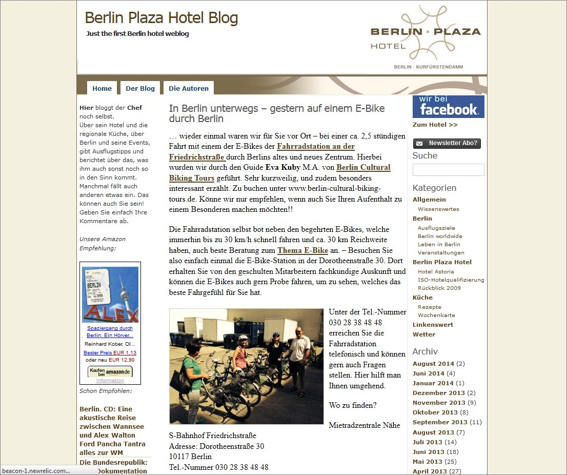 Blog Plazahotel Screenshot