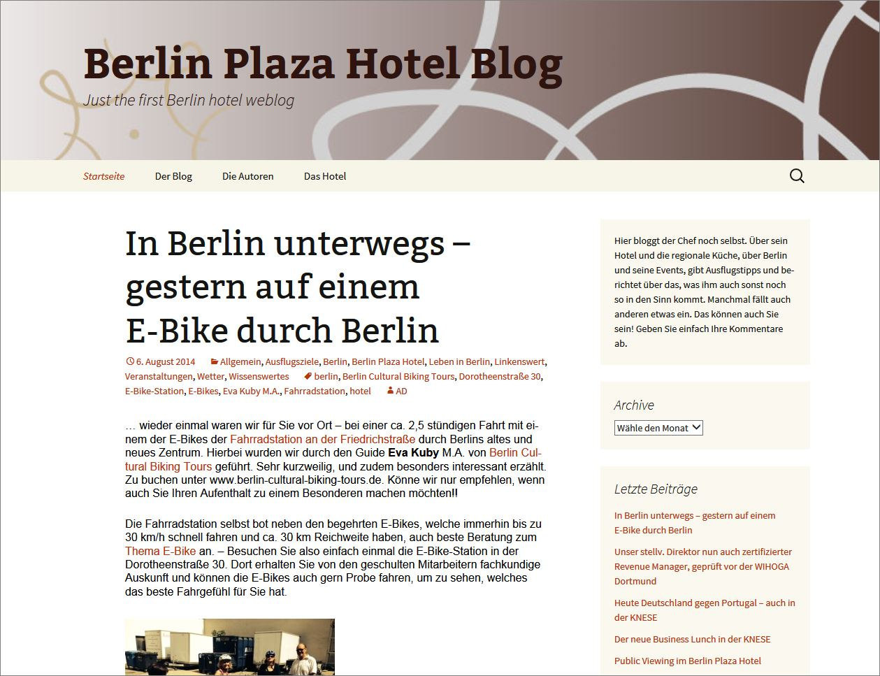 Berlin Plaza Hotel Blog