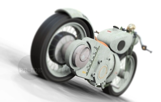 turbine powered motorcycle