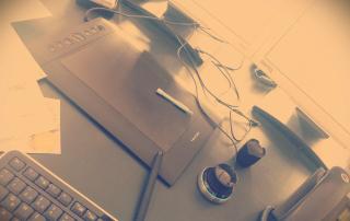 Designers Schreibtisch